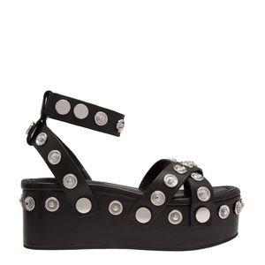 Alexander Wang Platform Sandal w/ Silver-Hardware